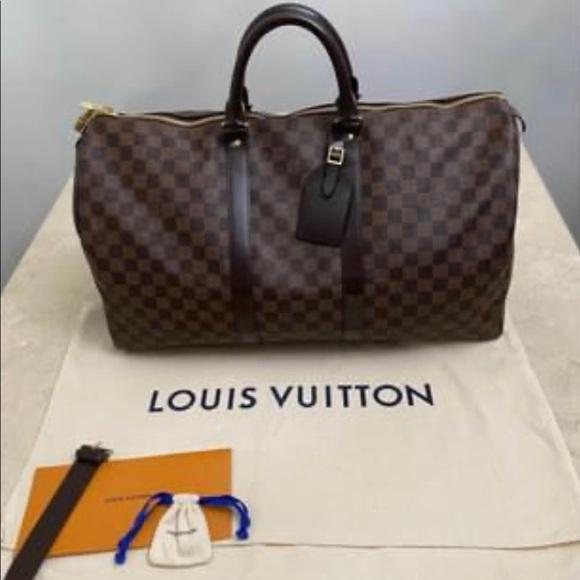 Authentic Louis Vuitton Damien Ebene Keepall 50